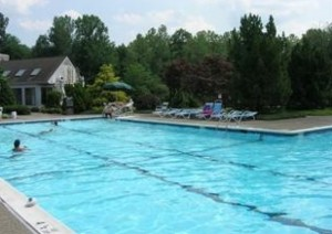 community pool at Mahwah condo