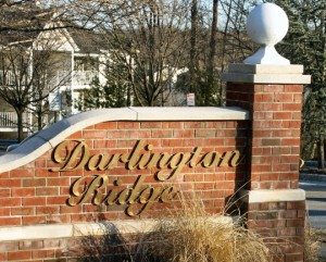 sign at the entrance to Darlington Ridge
